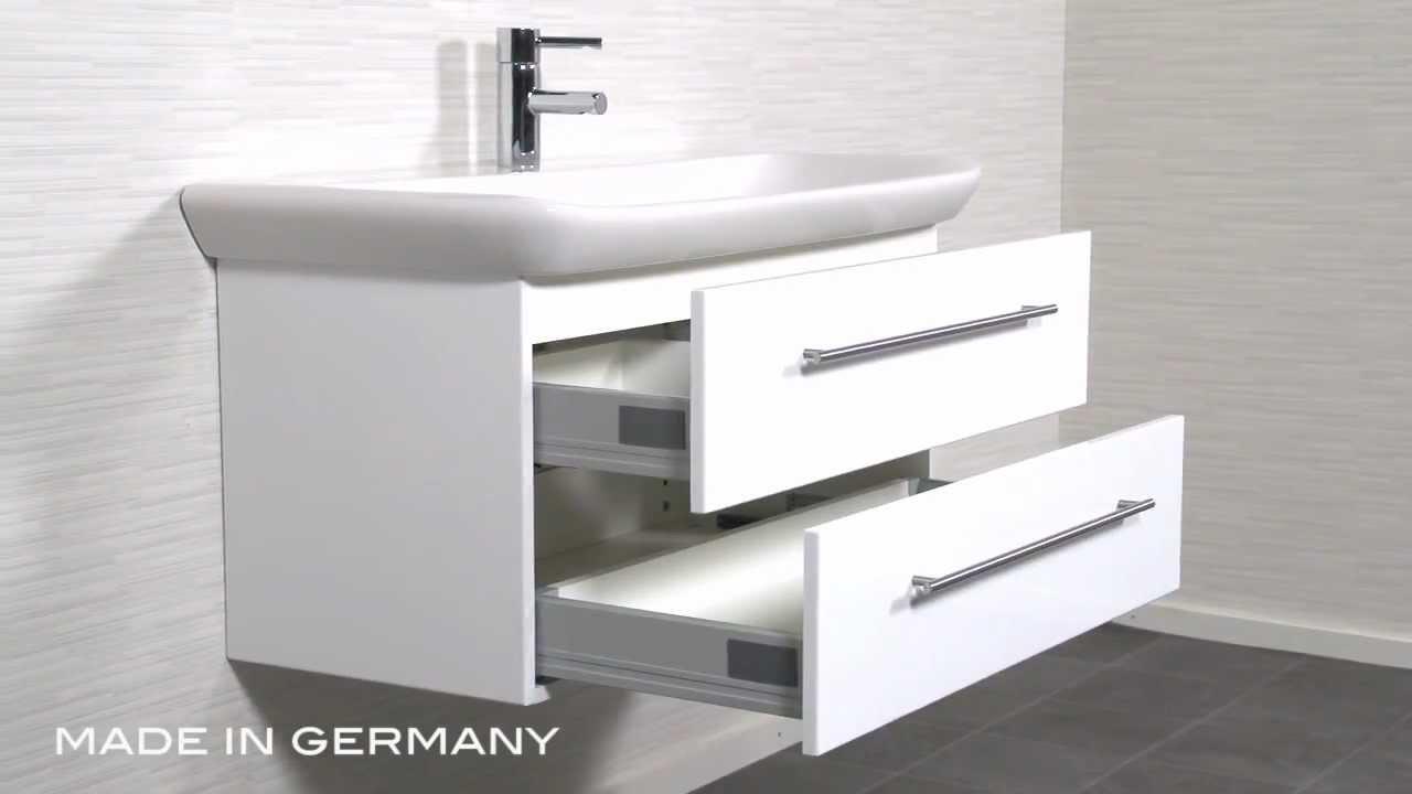 badm bel keramag myday 100 cm weiss youtube. Black Bedroom Furniture Sets. Home Design Ideas