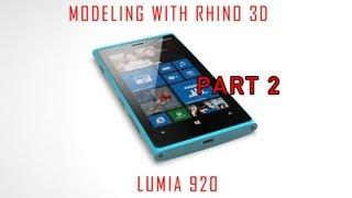 Rhino 3D Tutorial - Surface Modeling Nokia Lumia 920 - Part 2