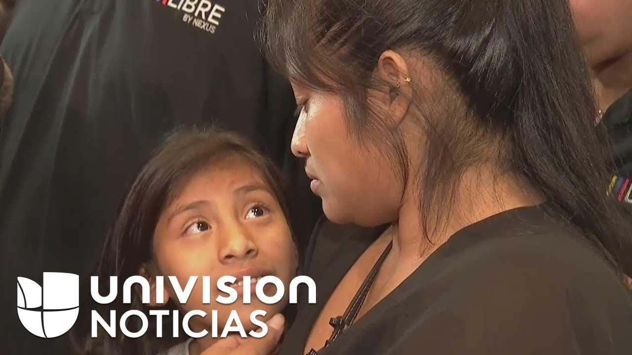 Madre guatemalteca se reúne con su hija tras estar separadas durante dos meses
