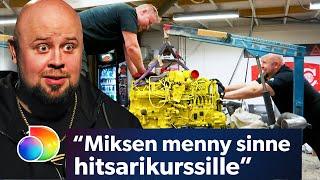 Latela 6.0 | Moottorin asennus koettelee Härskin hermoja | discovery+ Suomi