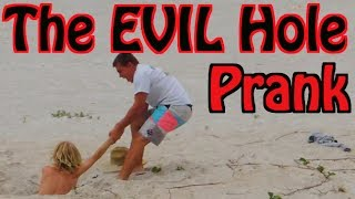 The EVIL Hole Prank! (Public Beach Prank)