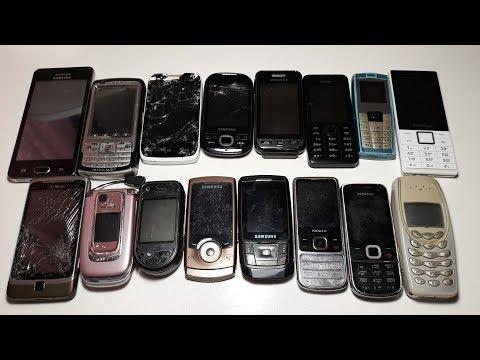 Супер посылка с 16 Ретро телефонами от подписчика с Украины Сергея даром Htc G2