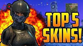TOP 5 TRYHARD SKINS IN FORTNITE BATTLE ROYALE! CES SKINS KILL YOU EVERYTIME!