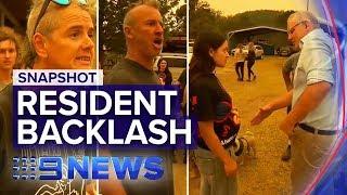 Scott Morrison heckled in visit to bushfire-ravaged Cobargo, NSW | Nine News Australia