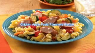 Chicken Apple Pasta Primavera Recipe