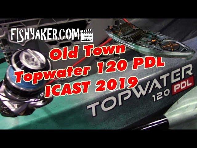 Old Town Topwater 120 PDL Fishing Kayak - ICAST 2019