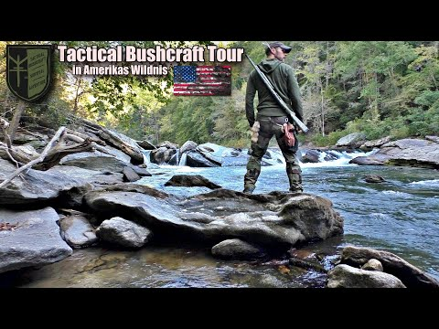 Tactical Bushcraft Tour U.S.A with Camp, Fishing, Fire and Adventure
