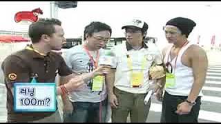 Korea TV show meeting foreigner game in Beijing-2