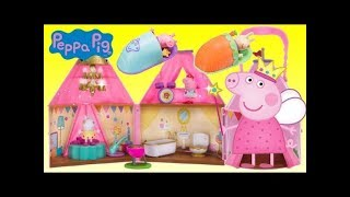 Unboxing Peppa Pigs Fest Glamping Tent Camping Playset
