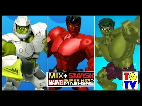Marvel Super Hero Mashers Hulk, Red Hulk, Smash Hulk | Mix+Smash