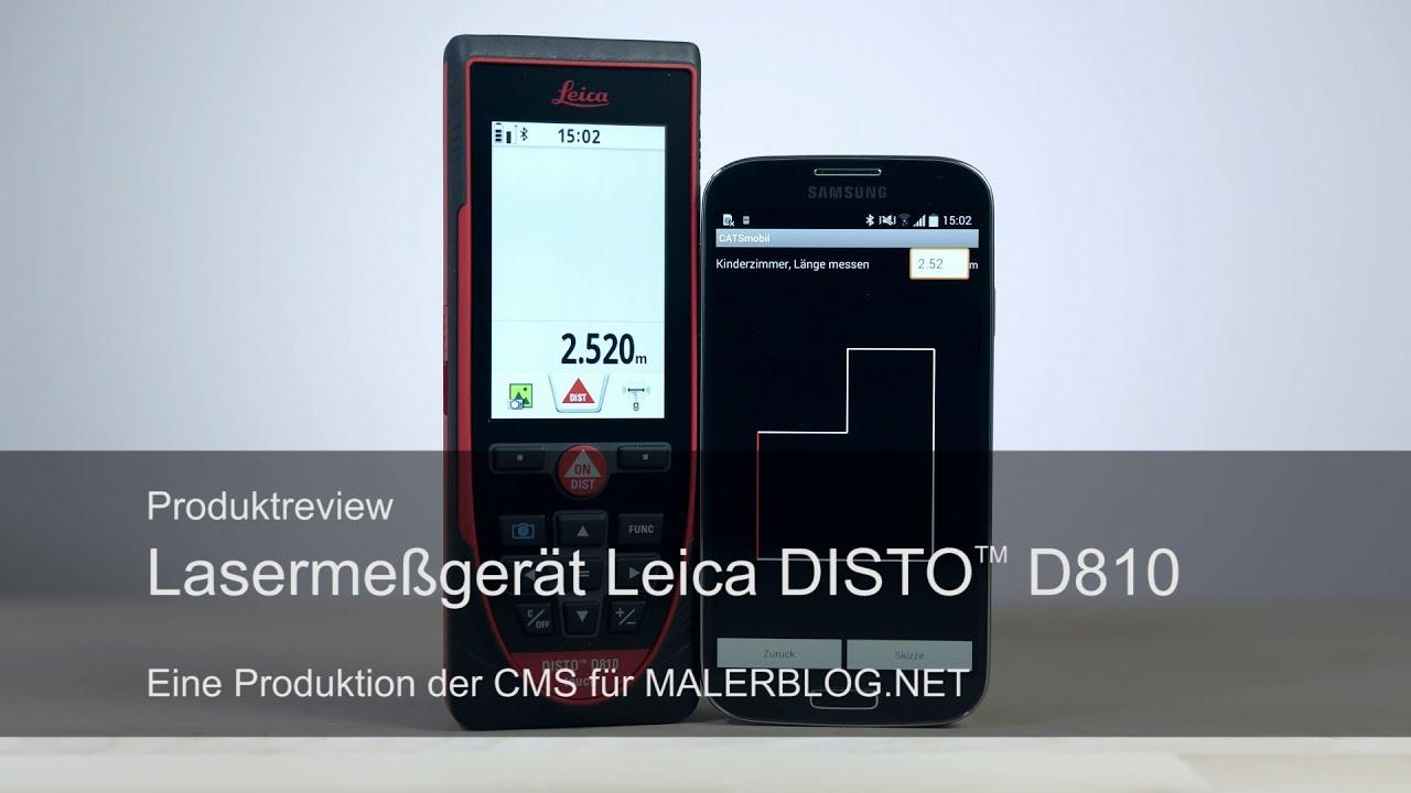 Leica Entfernungsmesser Einstellen : Review aufmaß im raum mit leica disto d und catsmobil youtube