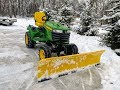 "Move Snow In Style!  Snow Plowing with a 2017 John Deere x739 Tractor & 72"" Hydraulic Plow Blade"
