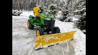 Move Snow In Style! Snow Plowing with a 2017 John Deere x739 Tractor & 72
