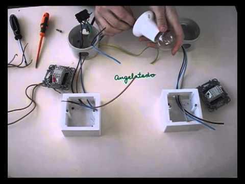 Instalaci n de conmutada de un punto de luz b otra - Modelos de interruptores de luz ...
