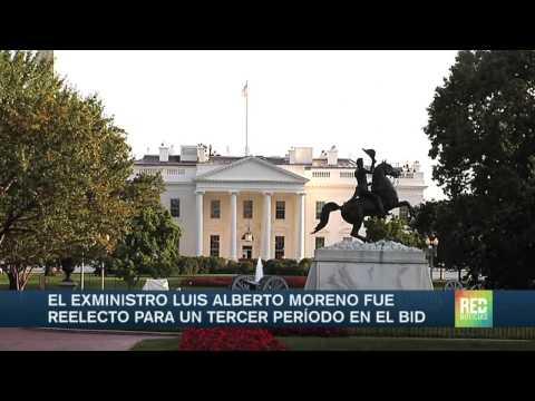 Luis Alberto Moreno fue reelegido en el BID