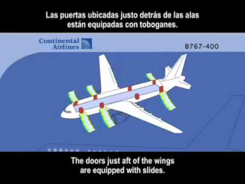 Continental Airlines - Safety Video 767-400 (2010, English & Spanish)
