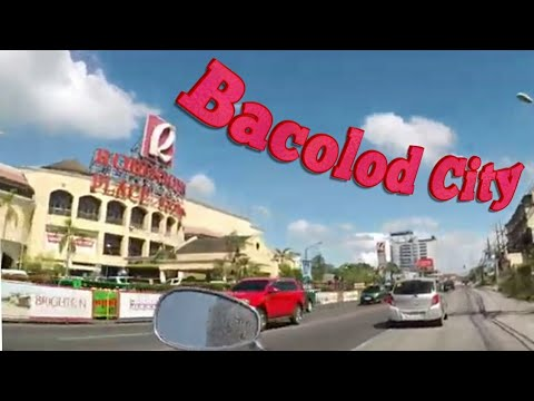 New Ayala mall Bacolod city Philippines to the airport by motorbike PART 1