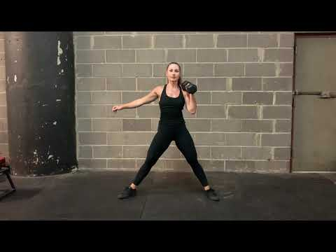 Cossack Lunge Contralateral DB Clean