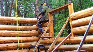 52 Days Spent on: Cabin Building, Logging, Sawmill & Tractor! ...1 day per week over the last year.