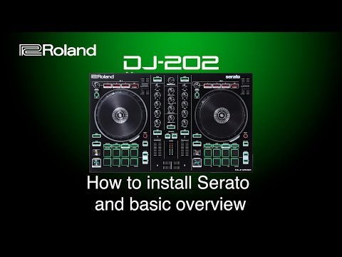 Roland DJ-202 - How to install Serato and basic overview