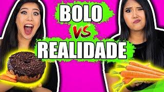 BOLO VS REALIDADE | Blog das irmãs