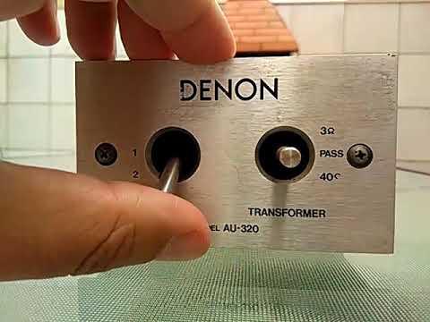 Amplificador de sinal tocadiscos Denon AU-320-JM