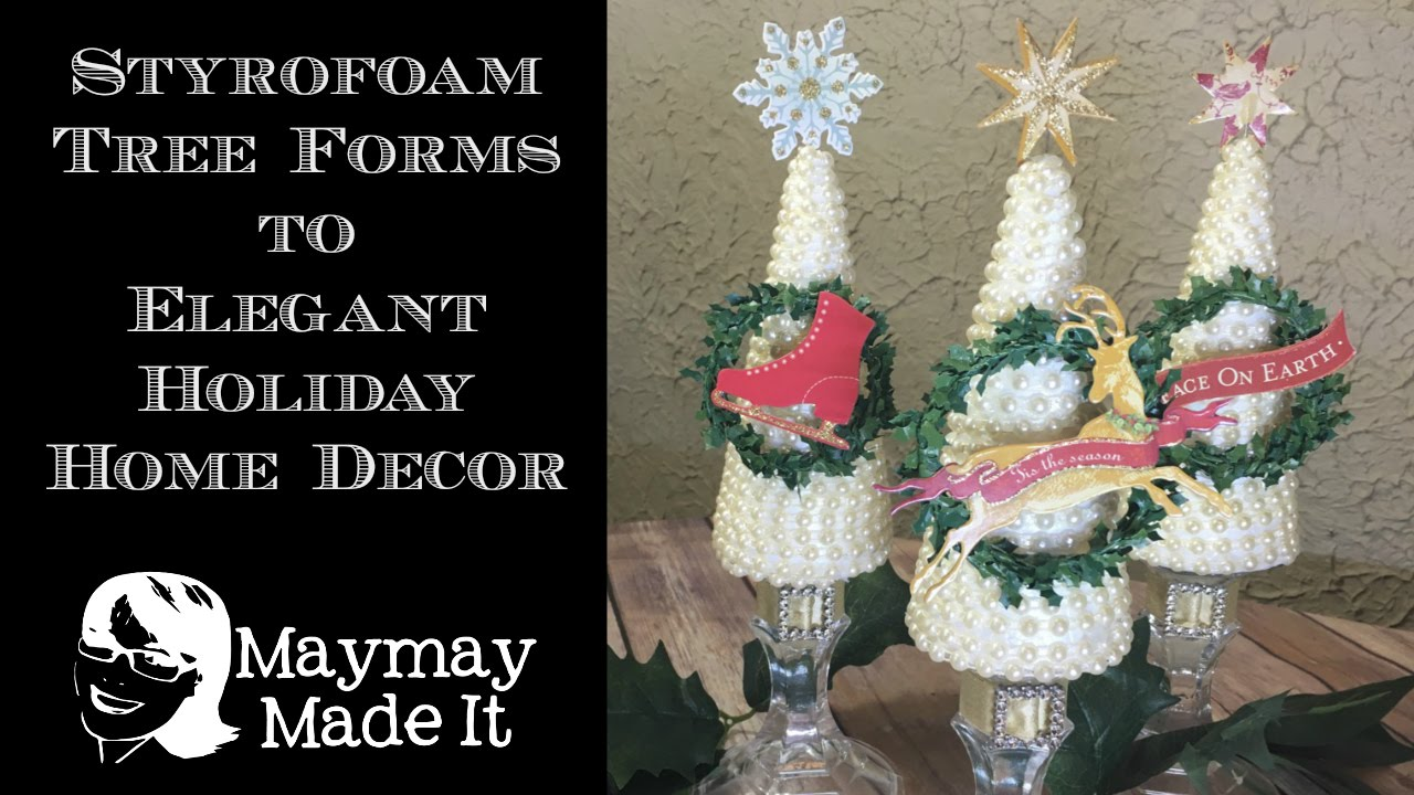 Styrofoam Cones And Pearl Christmas Trees G S Embellishment