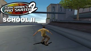 Tony Hawk's Pro Skater 2 (PS1) - School II - 100% GOALS AND CASH (and Secret Areas)