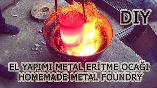 Metal eritme potası nasıl yapılır - How to make a metal foundry