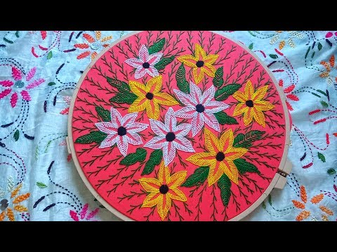 Hand Embroidery Cushion Cover Design Tutorial #6, কুশন কভার ডিজাইন by Rup Handicraft thumbnail