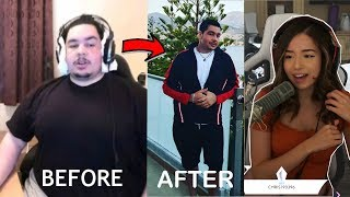Pokimane Reacts to Greekgodx Weight loss transformation 2017 - 2019