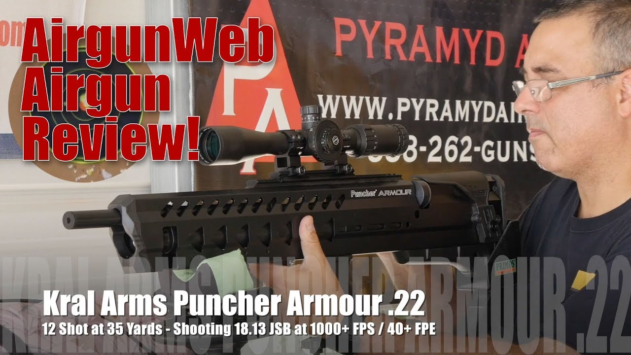 Kral Arms Puncher Armour  22 with Hawke Sidewinder Scope! - Review by  AirgunWeb