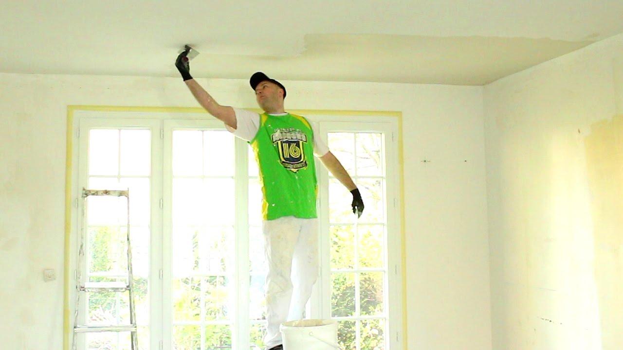 Toile À Enduire Plafond enduire un plafond après la pose de toile (1/3)