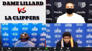 Damian Lillard Confronts Patrick Beverley and Paul George!
