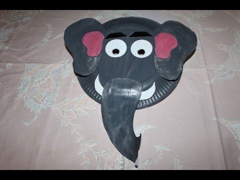 How to Make Elephant Paper Plate Party Masks | Paper Art and Craft Ideas for Kids & How to Make Elephant Paper Plate Party Masks | Paper Art and Craft ...