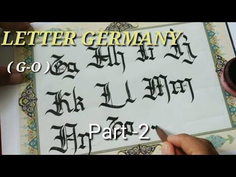 TUTORIAL LETTER GERMANY part -2 ( G-O ) thumbnail