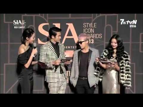 g dragon red carpet style icon awards sia 2013 youtube