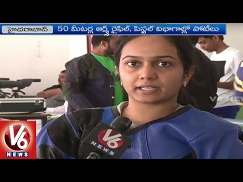 Telangana State Open Shooting Competition Begins In HCU | Hyderabad | V6 News