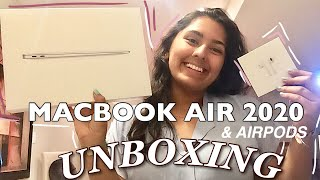 NEW MACBOOK AIR 2020 AND AIRPODS UNBOXING!