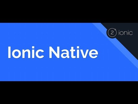 Ionic Native Examples Youtube