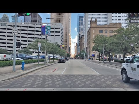 Driving Downtown - Houston's Skyline 4K - Texas USA