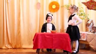 Сценка кота и кошки и песенка детей