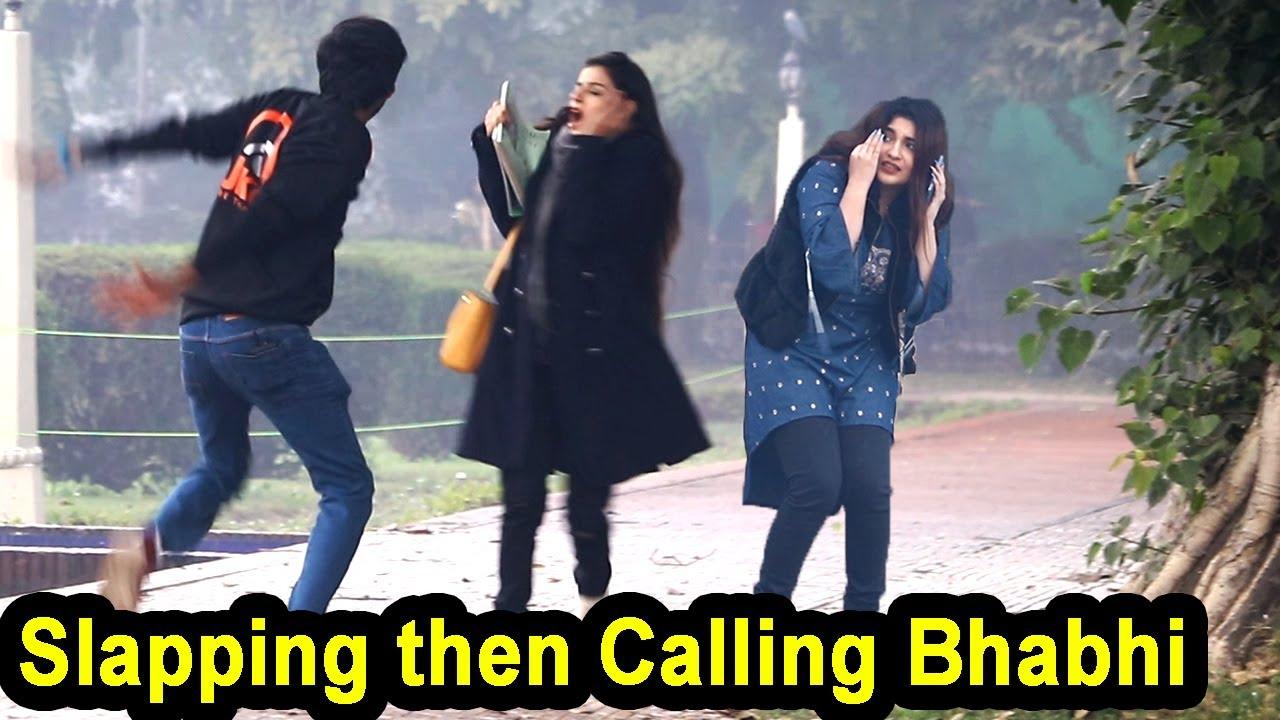 Fake Slapping Prank on Cute Girls | Waqas Rana | Pranks in Pakistan | Zero Brand