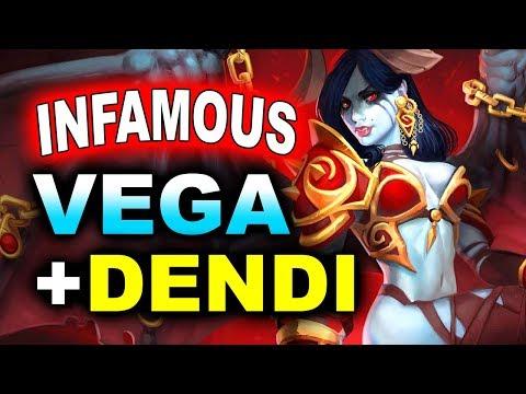 DENDI + VEGA vs INFAMOUS - GAME OF THROWS! - DreamLeague 10 MINOR DOTA 2
