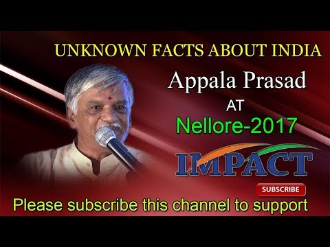Unknown Facts about INDIA Talk  By Appala Prasad at IMPACT Nellore 2017