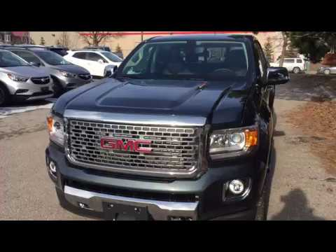 2019 GMC Canyon Denali Heated Steering Wireless Phone Charge Black Oshawa ON Stock #190391