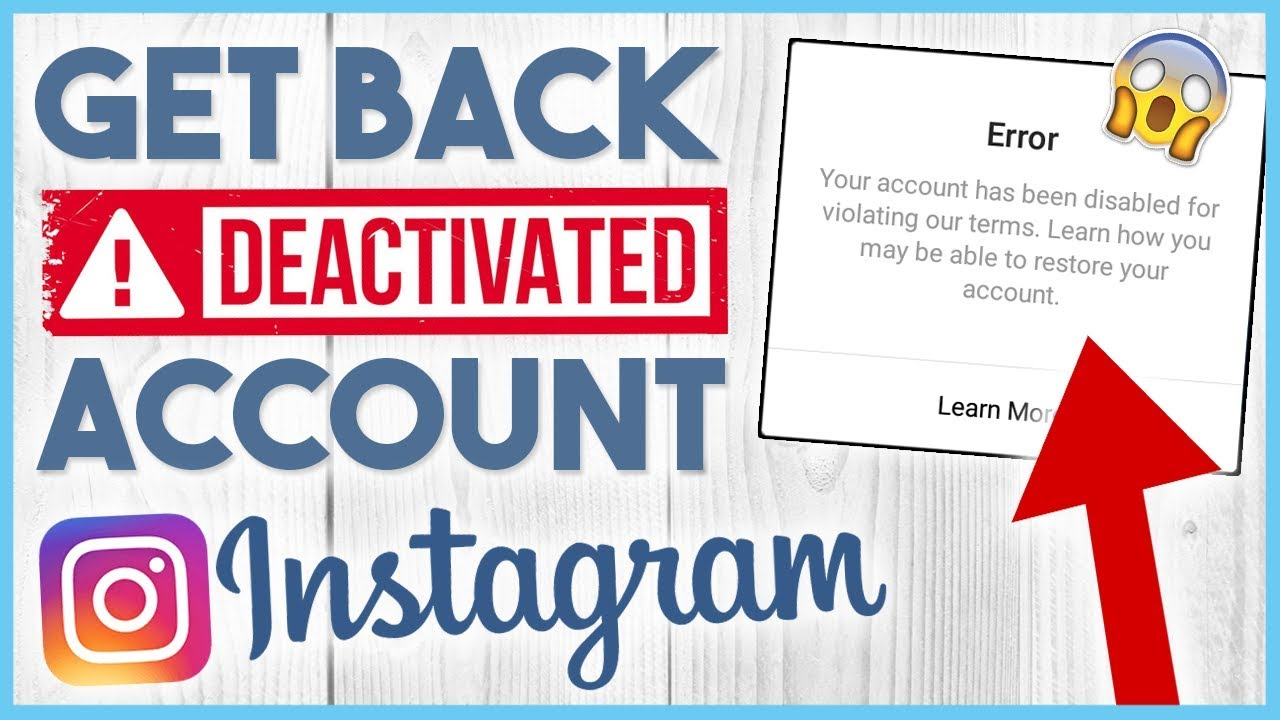 😉 How to Restore / Recover a Banned, Disabled or Deactivated Instagram  Account in 2019 😉
