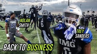 IMG Academy Football Is BACK! Georgia Commit Nolan Smith & Trey Sanders LIGHT UP Spring Game!