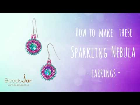 Learn to make this pair of Sparkling Nebula Earrings