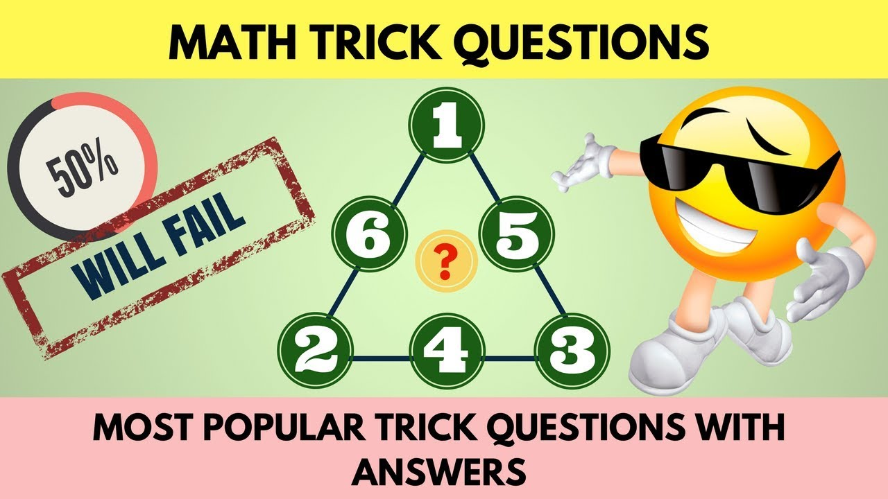 Math Trick Questions | Trick Questions and Answers ...